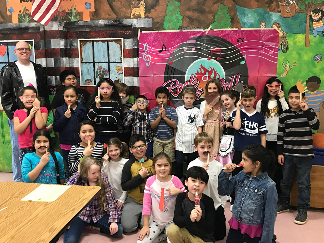 Flower Hill classes embraced 50's Day.