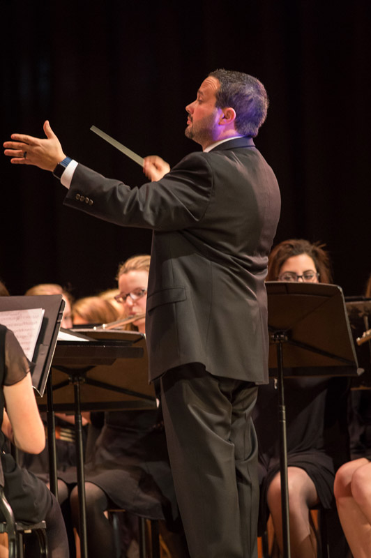 Brian Stellato is one of Huntington's veteran music faculty members. (Darin Reed photo.)