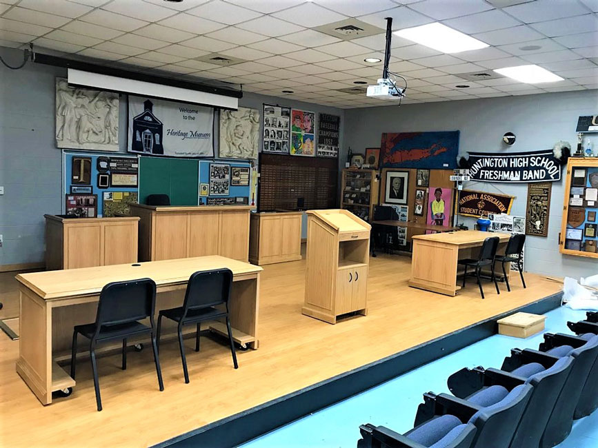Huntington has a new mock trial courtroom in the School Heritage Museum.
