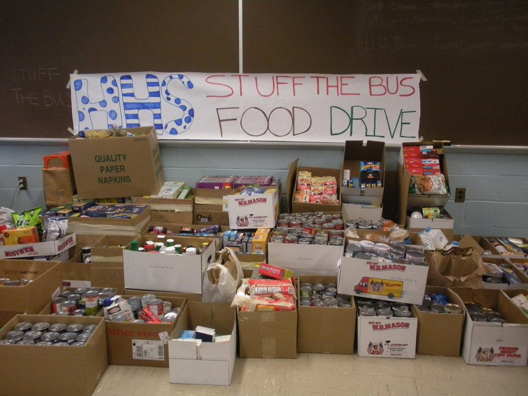 Huntington's Stuff the Bus food drive has been a success over the years (1)
