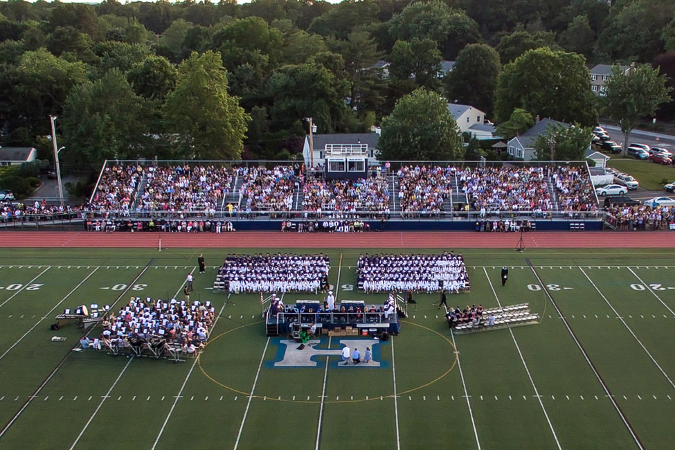 Blue Devil Stadium will once again be packed for the 157th commencement exercises. (Darin Reed photo)
