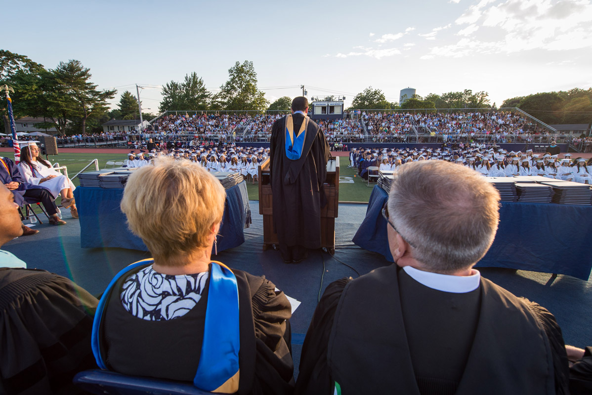 Blue Devil Stadium will once again be packed for the 157th commencement exercises. (Darin Reed photo