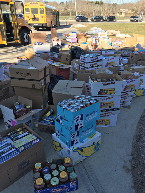 Huntington's Stuff the Bus food drive set a new record for items collected.