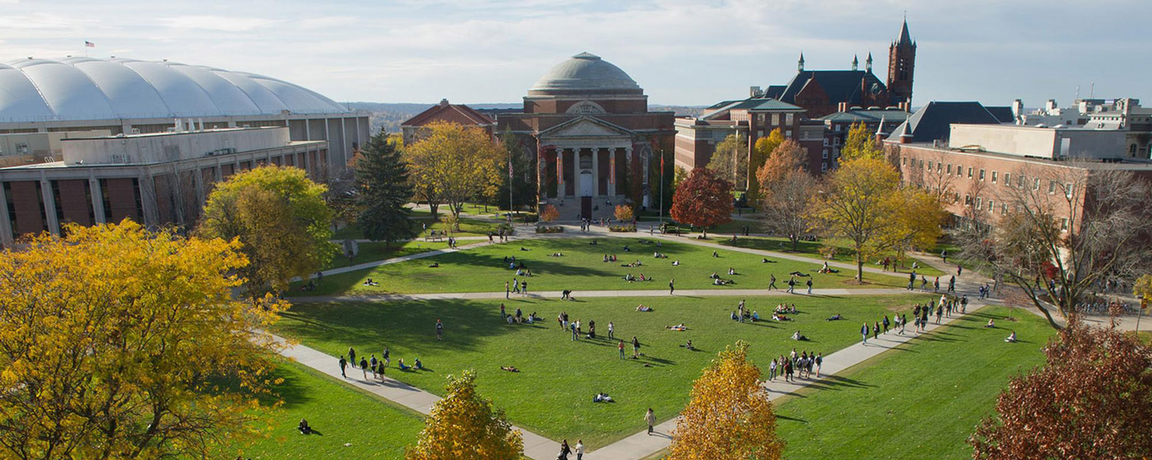 Syracuse University's Shaw Quadrangle is located near the Carrier Dome.