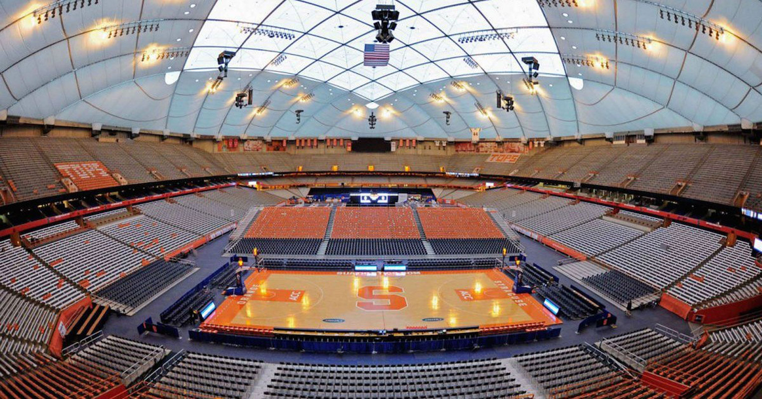 The Carrier Dome at Syracuse University.