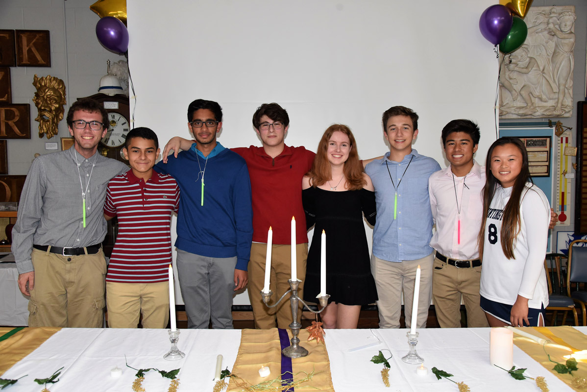 Huntington's National Science Honor Society chapter is led by eight dynamic teenagers.
