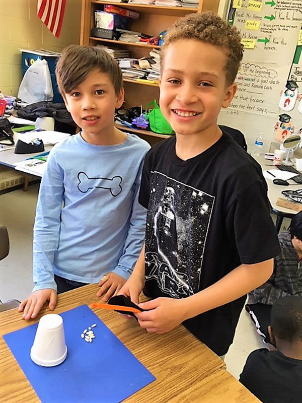 Washington School third graders experimented with static electricity
