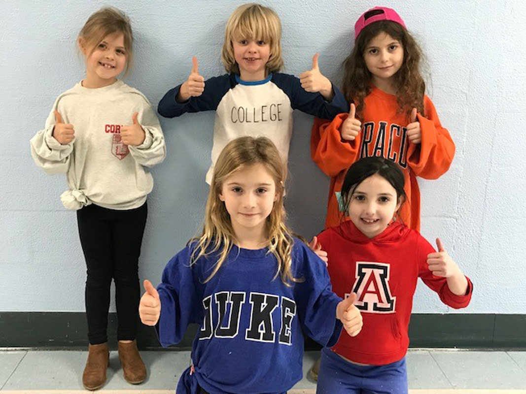 Huntington elementary school students got into the spirit of College Awareness Day.