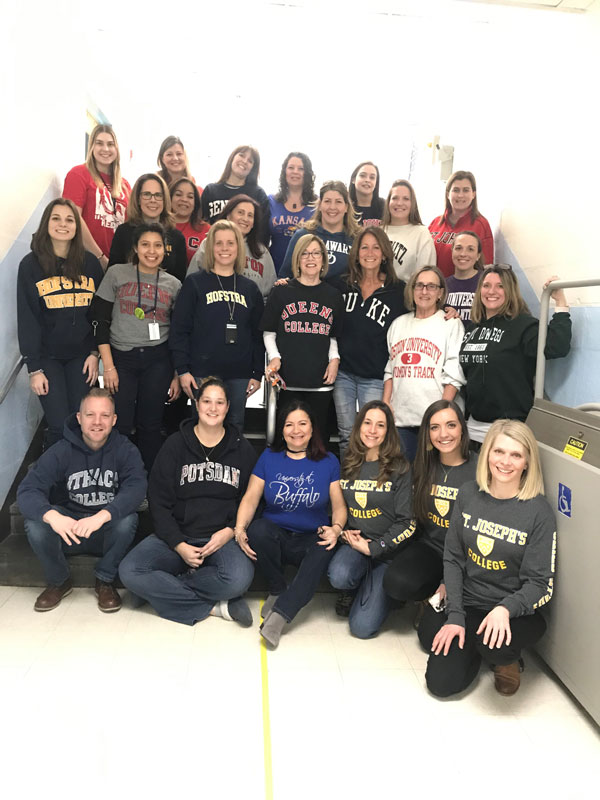 Southdown School faculty members enjoyed College Awareness Day.