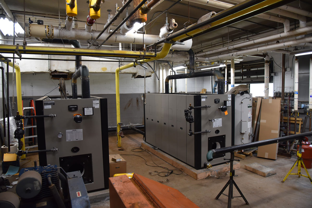 New boilers have been installed at Woodhull replacing one that were more than 50 years old