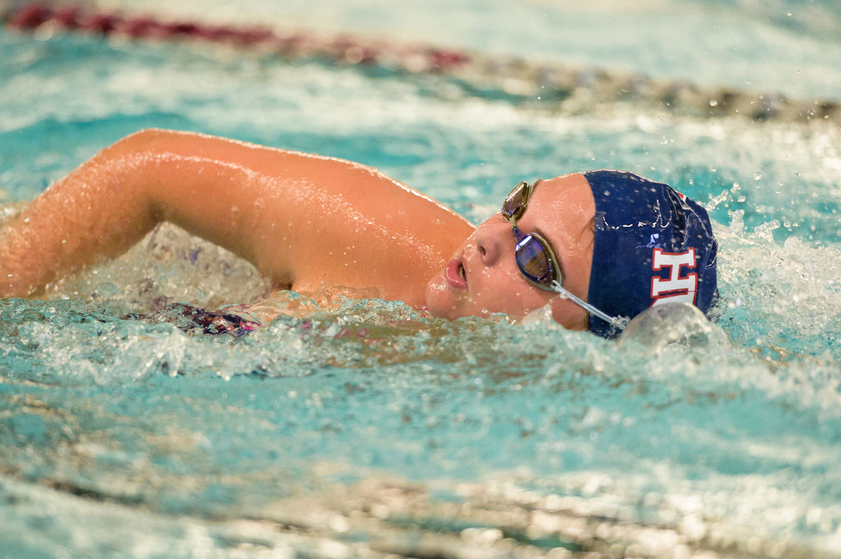 The Huntington girls' swimming team is returning some of Suffolk's best athletes in 2019. (Darin Reed photo)