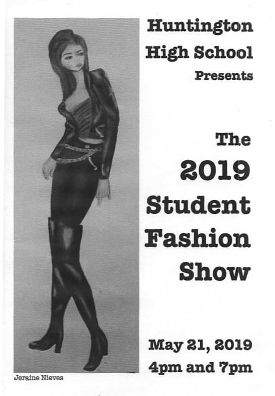 This year's fashion show program features artwork created by Jeraine Nieves.