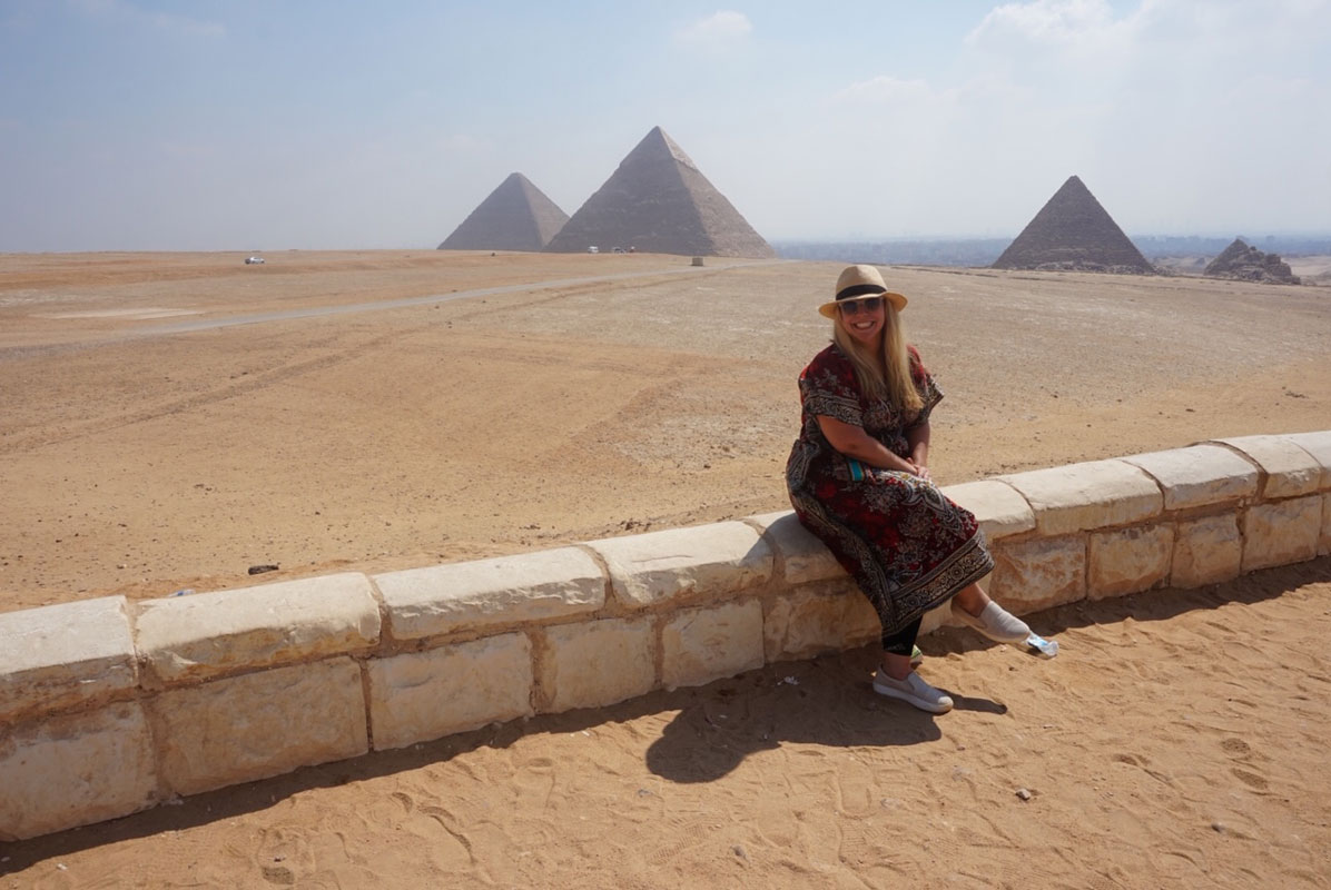 Huntington social studies teacher Camille Tedeschi's summer travels were once again exciting