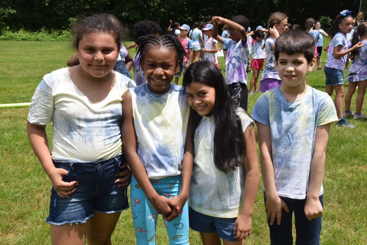 A group of Woodhull Intermediate School students at last year's Field Day.
