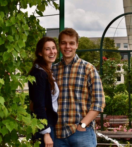 Michael Gilmor and his girlfriend, Briana Krewson in Europe during his Fulbright English teaching assistantship in Poland.