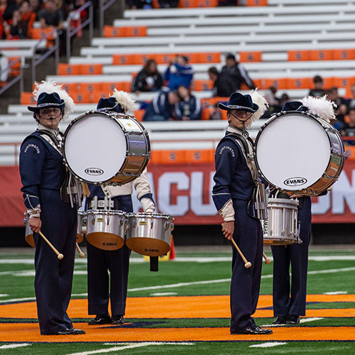 The Blue Devil marching band's 2019 field show has been revealed. (Darin Reed photo.)