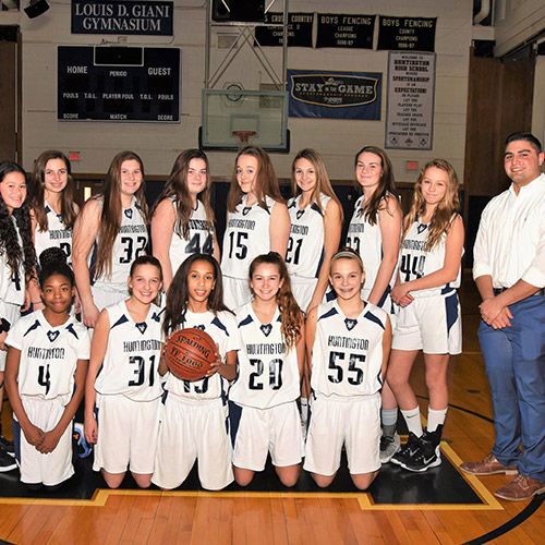 The Huntington JV girls' basketball compiled a 16-4 record this winter.
