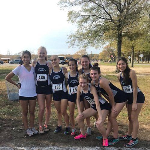 Girls' cross country team