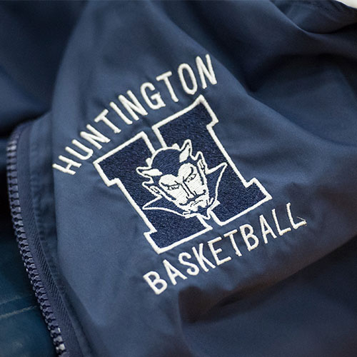 The Huntington girls' basketball team toppled Bellport on Thursday night in a league game. (Darin Reed photo)