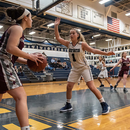 The Huntington girls' basketball team is closing in on a playoff spot. (Darin Reed photo)