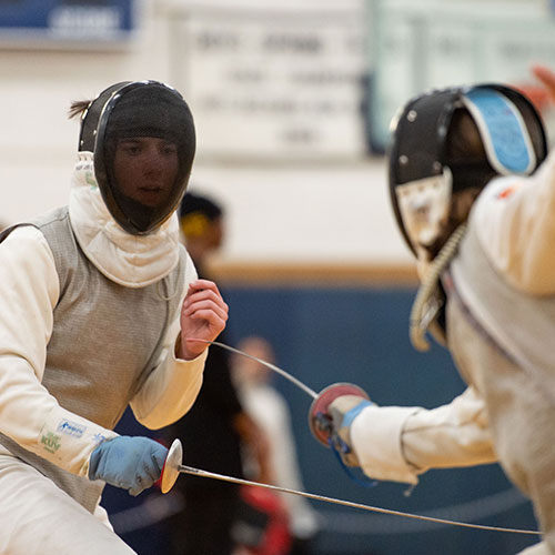 The Blue Devil boys' fencing team gave the sport everything they had this winter. (Darin Reed photo