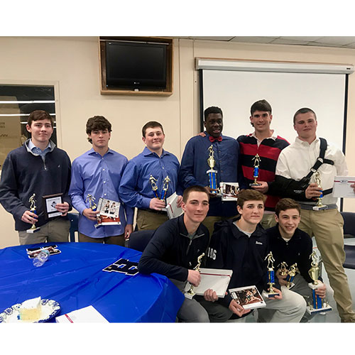 Huntington wrestlers were presented with awards during the recent reception.